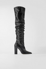 Zara Leather Over Knees Boots