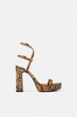 Zara Platform Print Sandals