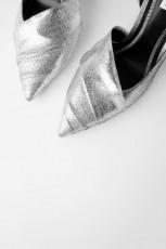 Zara SilverWrinkledHeel