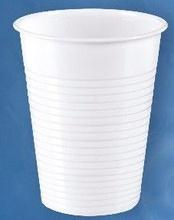 Pahare albe din plastic de unica folosinta 200cc set 100 buc