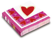 Servetele Ziua Indragostitilor 33x33cm Valentines Day set 20 buc