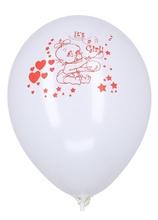 Baloane botez Its A Girl albe 30cm imprimate set 20 buc