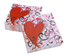 Servetele inimioare Ziua Indragostitilor Valentines Day 25x25cm set 20 buc