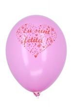 Baloane botez roz Eu Sunt Fetita 30cm set 20 buc