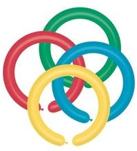 Baloane modelaj colorate asortat 5x140cm set 100 buc