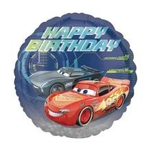 Balon folie metalizata 43cm Cars 3 Happy Birthday