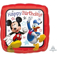 Balon folie metalizata Mickey Roadster Racers HBD 43cm
