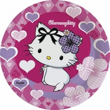 Farfurii Charmmy Kitty Hearts 23 cm set 8 buc