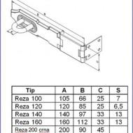 Reza za katanac 140mm