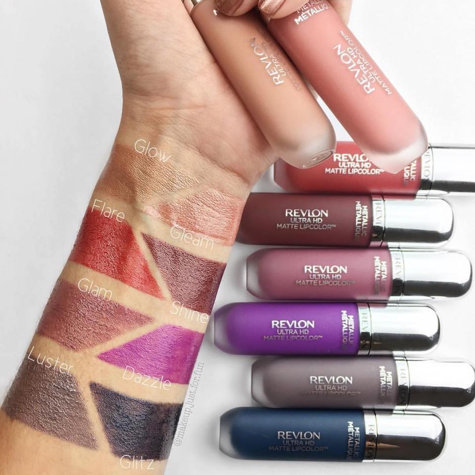 Revlon Ultra Hd Metallic Matte Lip Color Hd 705 Shine