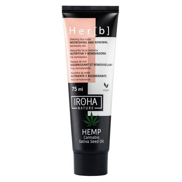 Iroha Sleeping face Mask Nourishing&Renewal Cannabis Seed Oil