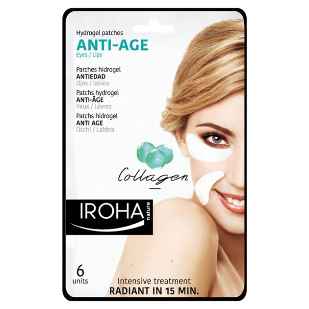 Iroha Hydrogel Patches Anti-Age Eyes/Lips Collagen
