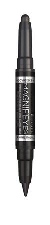 Fard de pleoape si Tus de ochi Rimmel Magnif'eyes Double Liner&Eyeshadow, 001 Back to Blacks