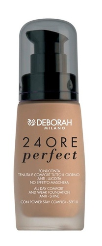 Poze Fond de ten Deborah 24Ore Perfect Foundation N. 2 True Beige, 30 ml