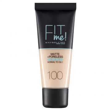 Poze Fond de ten matifiant Maybelline New York Fit Me Matte & Poreless 100 Warm Ivory - 30ml
