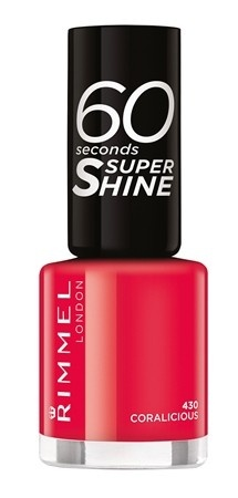 Poze Lac de unghii Rimmel 60 Seconds Shine, 430 Coralicious