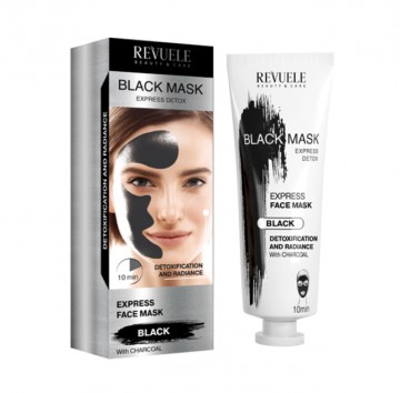 Masca cu efect de stralucire Revuele black mask express detox 80ml