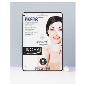 Masca servetel Iroha Cotton Face&Neck Mask Firming Pearl Hyaluronic Acid