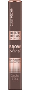 Mascara semipermanenta pentru sprancene Catrice Brow Colorist Semi-Permanent Brow Mascara 030 Dark