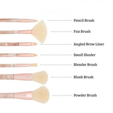 Poze Boozyshop 7 pc. Liquid Glitter Brush Set Rose Gold