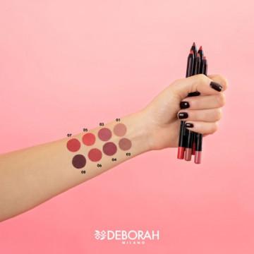 Creion de buze Deborah 2in1 Gel Contour&Color LipLiner Waterproof 08 Deep Cherry