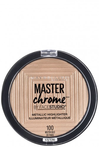 Iluminator cu reflexii metalice Maybelline New York Master Chrome 100 Molten Gold - 9g