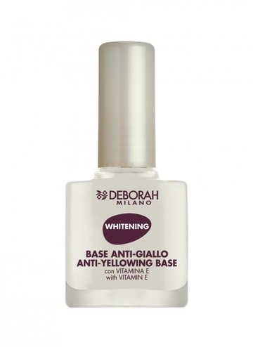 Lac baza de unghii Deborah DH Anti-Yellowing Nail BaseWhite, 11 ml