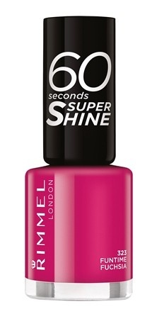 Poze Lac de unghii Rimmel 60 Seconds Shine, 323 Funtime Fucsia