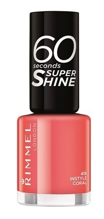 Poze Lac de unghii Rimmel 60 Seconds Shine, 415 Instyle Coral
