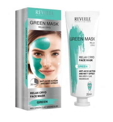 Poze Masca anti-acnee Revuele green mask cryo effect 80ml