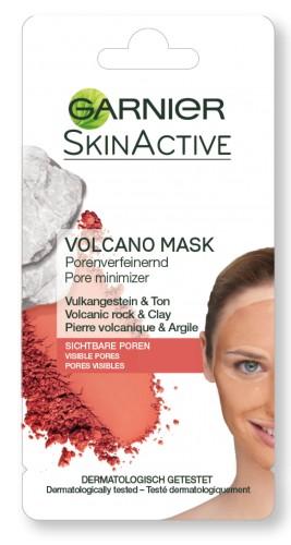 Masca de fata pentru reducerea porilor Garnier cu Roca Vulcanica, pentru tenul cu pori vizibili 8 ml