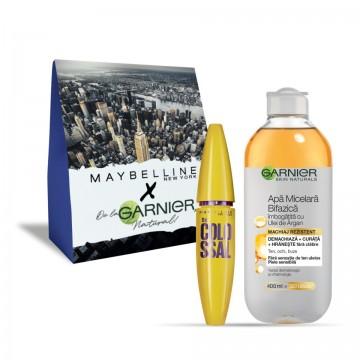 Pachet promo Garnier Skin Naturals Apa micelara + Maybelline Mascara The Colossal volum colosal