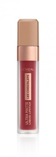 Poze Ruj lichid mat L'Oreal Paris Ultra Matte Les Chocolats 864 Tasty Ruby - 7.6 ml