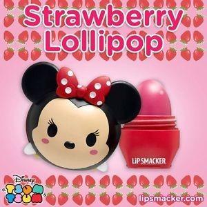 Balsam de buze Lip Smacker Tsum Tsum Minnie Strawberry Lollipop