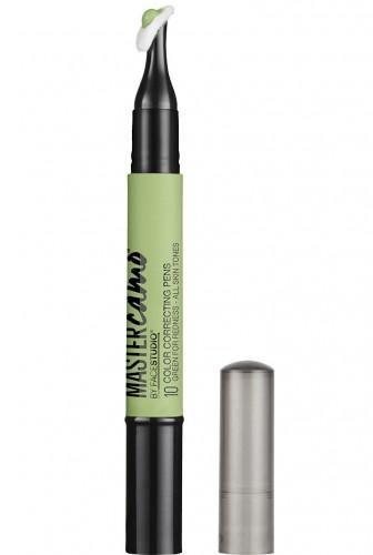 Creion pentru corectia punctuala a nuantei tenului Maybelline New York Master Camo Color Correcting Pen Green 1.5ml