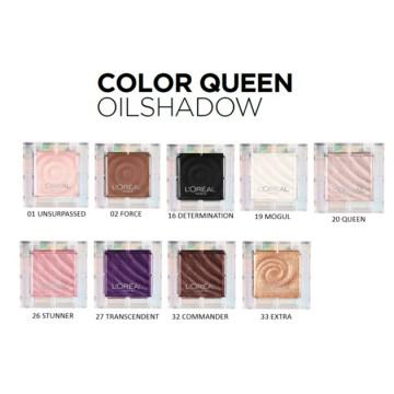 """Fard de ochi L'Oreal Paris Color Queen Fard """"ulei-in-pudra"""" -3.8g, 01 Unsurpassed (textura mata)"""