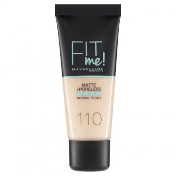 Poze Fond de ten matifiant Maybelline New York Fit Me Matte & Poreless 110 Porcelain - 30ml