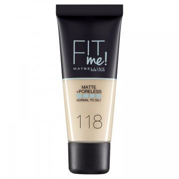 Poze Fond de ten matifiant Maybelline New York Fit Me Matte & Poreless 118 Light Beige 30ml