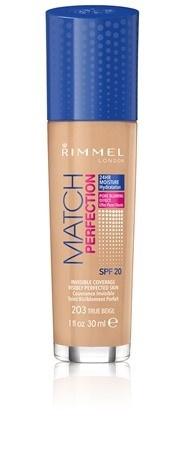 Poze Fond de ten Rimmel Match Perfection, 203 True Beige