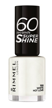 Poze Lac de unghii Rimmel 60 Seconds Shine, 703 White hot love
