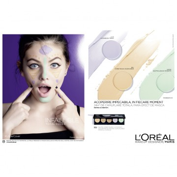 Poze Paleta corectoare L'Oreal Paris Infaillible Total Cover - 10g