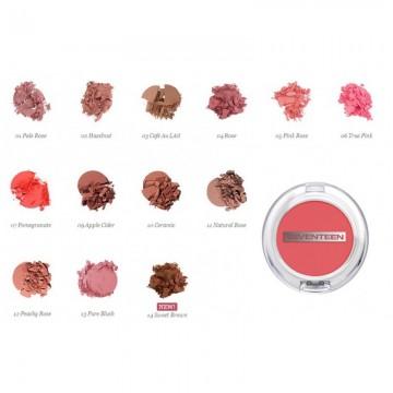 Poze Fard de obraz Seventeen Natural Matte Silky Blusher   No 12 Peachy Rose