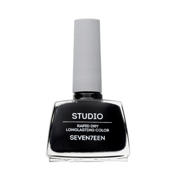 Poze Lac de unghii Seventeen STUDIO RAPID DRY LASTING COLOR No 48 Black