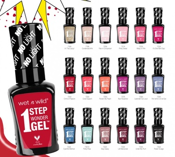 Poze Lac de unghii Wet n Wild 1 Step Wonder Gel Nail Color Pretty Peas, 7 ml