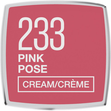 Maybelline New York Color Sensational ruj satinat 233, Pink Pose, 4.2g
