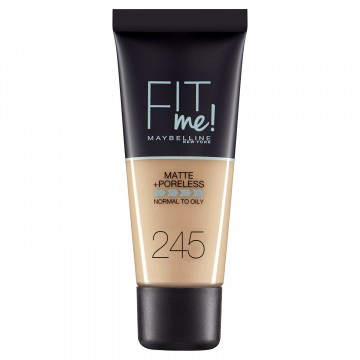Poze Fond de ten matifiant Maybelline New York Fit Me Matte & Poreless 245 Classic Beige 30ml