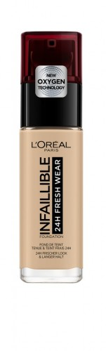Fond de ten rezistent la transfer L'Oreal Paris Infaillible 24H Fresh Wear 125 Natural Rose - 30 ml