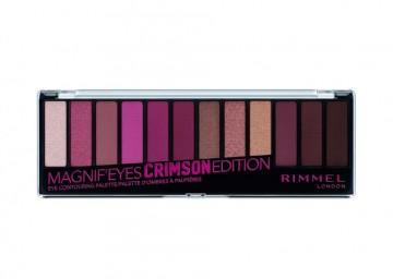 Paleta farduri de ochi Rimmel MagnifEyes Palette 007 Crimson Edition