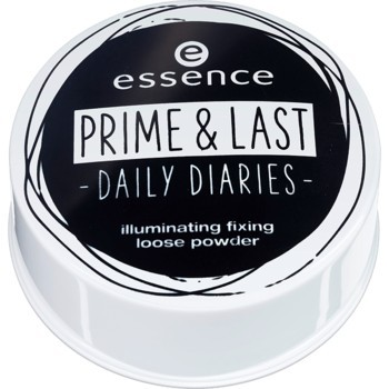 Pudra pulbere iluminatoare Essence prime & last -daily diaries- illuminating fixing loose powder 01