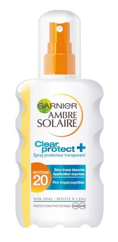 Poze Spray transparent Clear Protect Garnier Ambre Solaire SPF 20 - 200ml
